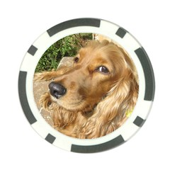Red Cocker Spaniel Red Poker Chip Card Guard