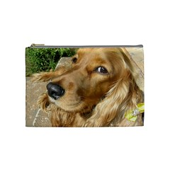 Red Cocker Spaniel Red Cosmetic Bag (Medium)