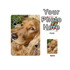 Red Cocker Spaniel Red Playing Cards 54 (Mini)