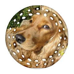 Red Cocker Spaniel Red Ornament (Round Filigree)