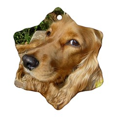 Red Cocker Spaniel Red Snowflake Ornament (Two Sides)