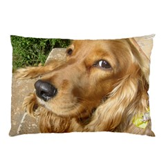 Red Cocker Spaniel Red Pillow Case (Two Sides)