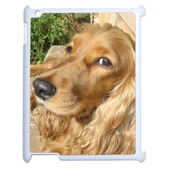 Red Cocker Spaniel Red Apple iPad 2 Case (White)