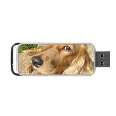 Red Cocker Spaniel Red Portable USB Flash (One Side)