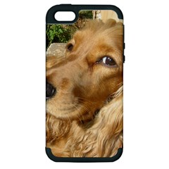 Red Cocker Spaniel Red Apple iPhone 5 Hardshell Case (PC+Silicone)