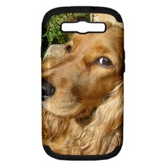 Red Cocker Spaniel Red Samsung Galaxy S III Hardshell Case (PC+Silicone)