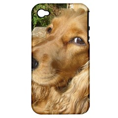Red Cocker Spaniel Red Apple iPhone 4/4S Hardshell Case (PC+Silicone)