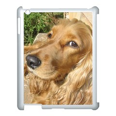 Red Cocker Spaniel Red Apple iPad 3/4 Case (White)