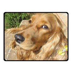 Red Cocker Spaniel Red Double Sided Fleece Blanket (Small)