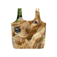Red Cocker Spaniel Red Full Print Recycle Bags (S)