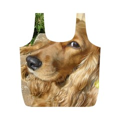 Red Cocker Spaniel Red Full Print Recycle Bags (M)