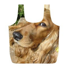 Red Cocker Spaniel Red Full Print Recycle Bags (L)