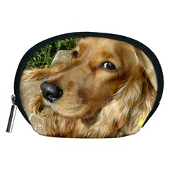 Red Cocker Spaniel Red Accessory Pouches (Medium)