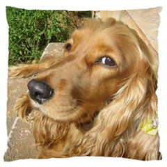 Red Cocker Spaniel Red Large Flano Cushion Case (Two Sides)