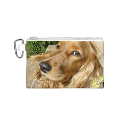 Red Cocker Spaniel Red Canvas Cosmetic Bag (S)