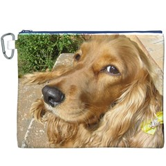 Red Cocker Spaniel Red Canvas Cosmetic Bag (XXXL)