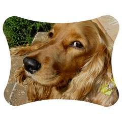 Red Cocker Spaniel Red Jigsaw Puzzle Photo Stand (Bow)