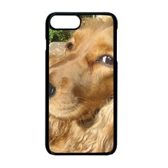 Red Cocker Spaniel Red Apple iPhone 7 Plus Seamless Case (Black)