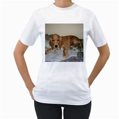 Red Cocker Spaniel Puppy Women s T-Shirt (White) (Two Sided)