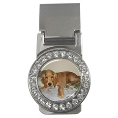 Red Cocker Spaniel Puppy Money Clips (CZ)