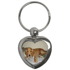 Red Cocker Spaniel Puppy Key Chains (Heart)