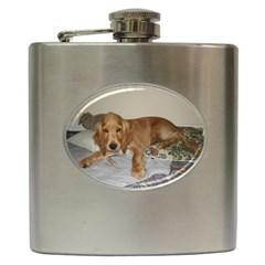Red Cocker Spaniel Puppy Hip Flask (6 oz)