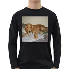 Red Cocker Spaniel Puppy Long Sleeve Dark T-Shirts