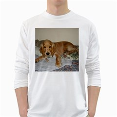Red Cocker Spaniel Puppy White Long Sleeve T-Shirts