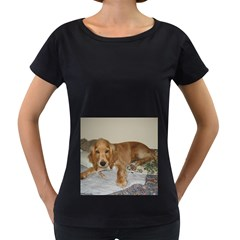 Red Cocker Spaniel Puppy Women s Loose-Fit T-Shirt (Black)