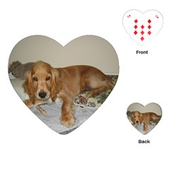 Red Cocker Spaniel Puppy Playing Cards (Heart)