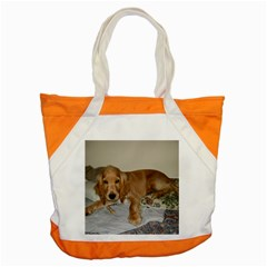 Red Cocker Spaniel Puppy Accent Tote Bag
