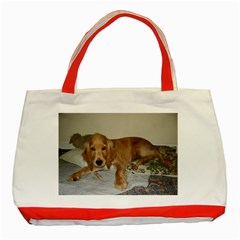 Red Cocker Spaniel Puppy Classic Tote Bag (Red)