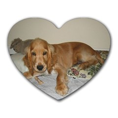 Red Cocker Spaniel Puppy Heart Mousepads