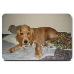 Red Cocker Spaniel Puppy Large Doormat