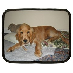 Red Cocker Spaniel Puppy Netbook Case (Large)