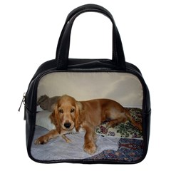 Red Cocker Spaniel Puppy Classic Handbags (One Side)