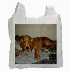 Red Cocker Spaniel Puppy Recycle Bag (Two Side)