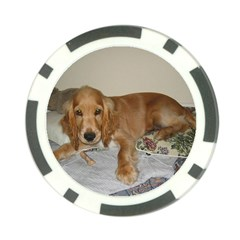 Red Cocker Spaniel Puppy Poker Chip Card Guard (10 pack)