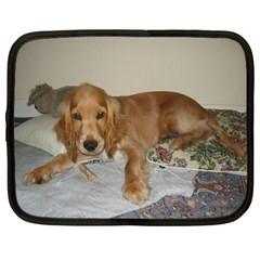 Red Cocker Spaniel Puppy Netbook Case (XL)