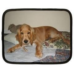 Red Cocker Spaniel Puppy Netbook Case (XXL)