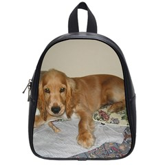 Red Cocker Spaniel Puppy School Bags (Small)