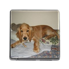 Red Cocker Spaniel Puppy Memory Card Reader (Square)