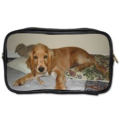Red Cocker Spaniel Puppy Toiletries Bags 2-Side
