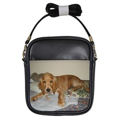 Red Cocker Spaniel Puppy Girls Sling Bags