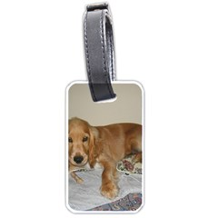 Red Cocker Spaniel Puppy Luggage Tags (One Side)