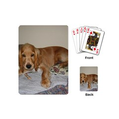 Red Cocker Spaniel Puppy Playing Cards (Mini)