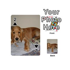 Red Cocker Spaniel Puppy Playing Cards 54 (Mini)