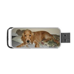 Red Cocker Spaniel Puppy Portable USB Flash (Two Sides)