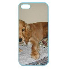 Red Cocker Spaniel Puppy Apple Seamless iPhone 5 Case (Color)