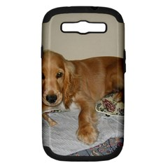 Red Cocker Spaniel Puppy Samsung Galaxy S III Hardshell Case (PC+Silicone)
